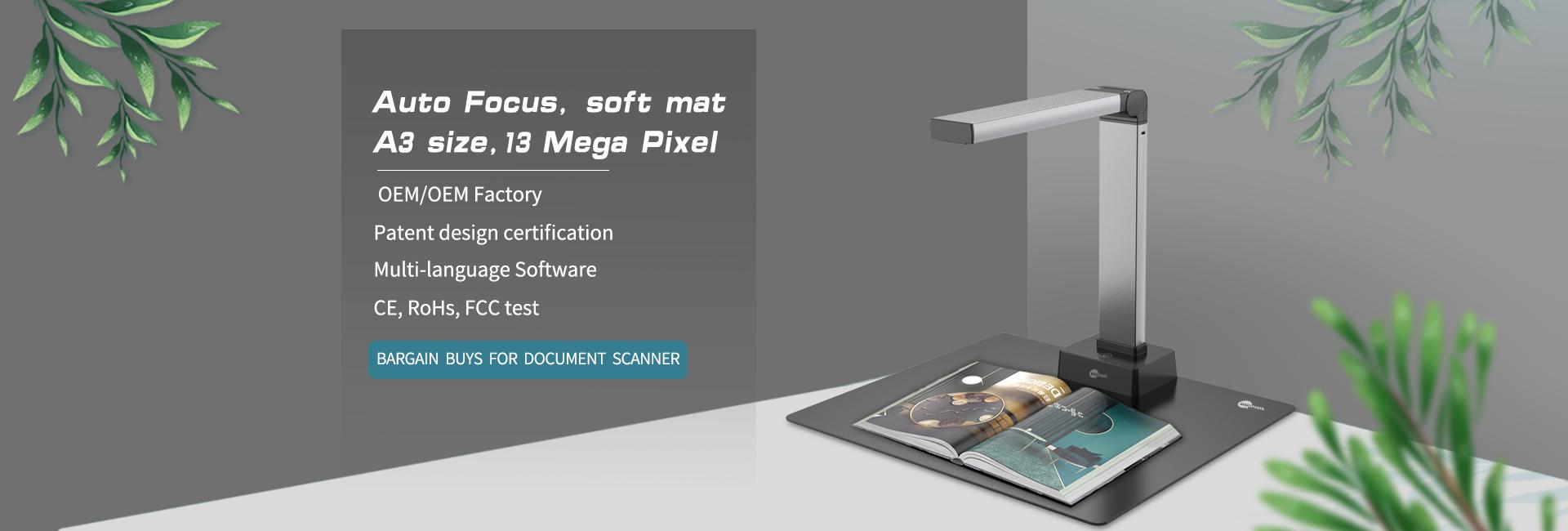 Portable Document Scanner Camera