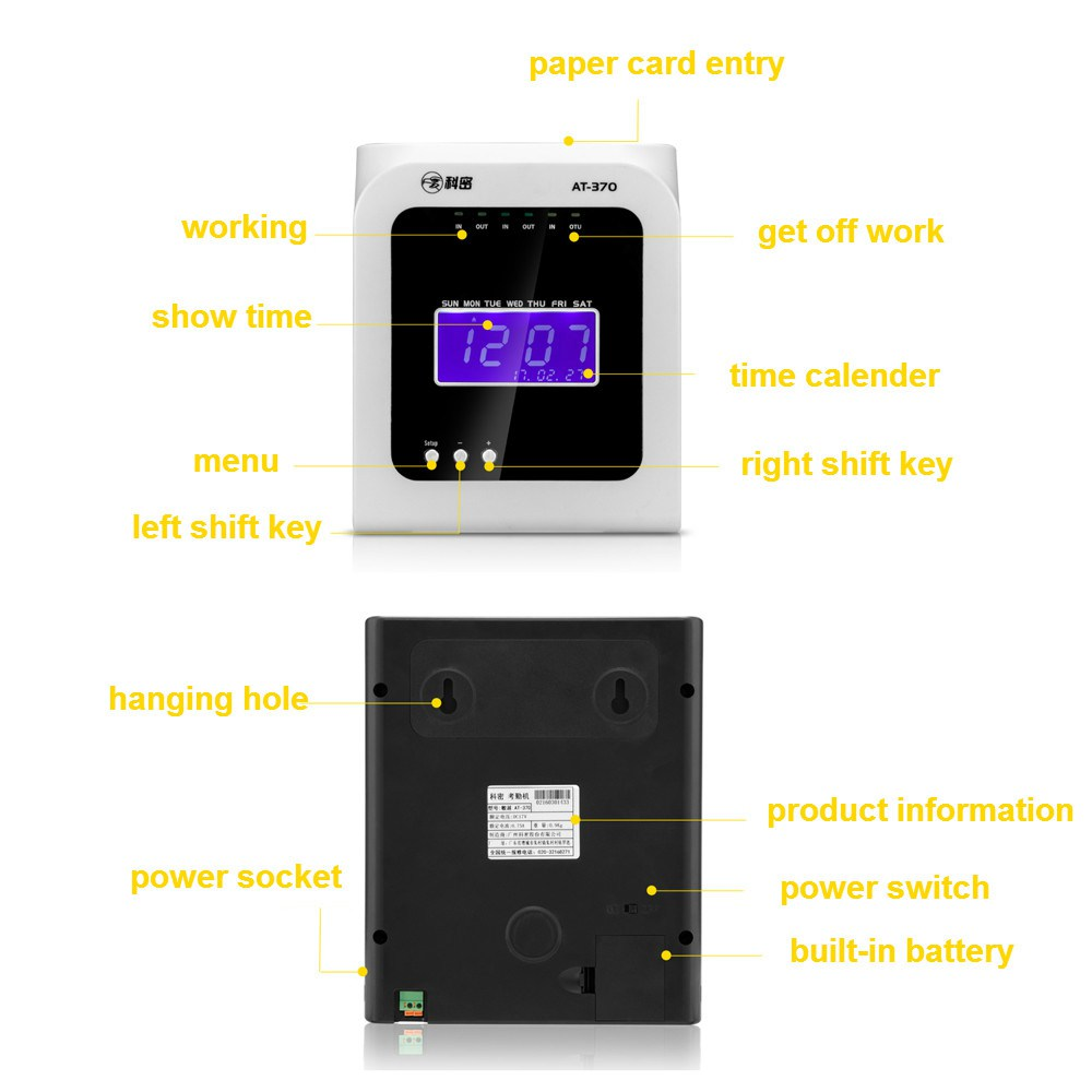 Thermosensitive Attendance Machine