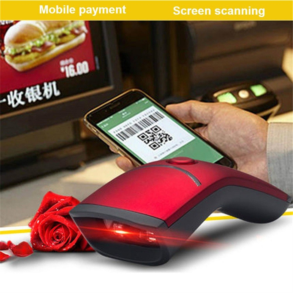 Guangzhou Factory price bluetooth barcode scanner 1d 2d QR code reader wireless handheld portable barcode scanner
