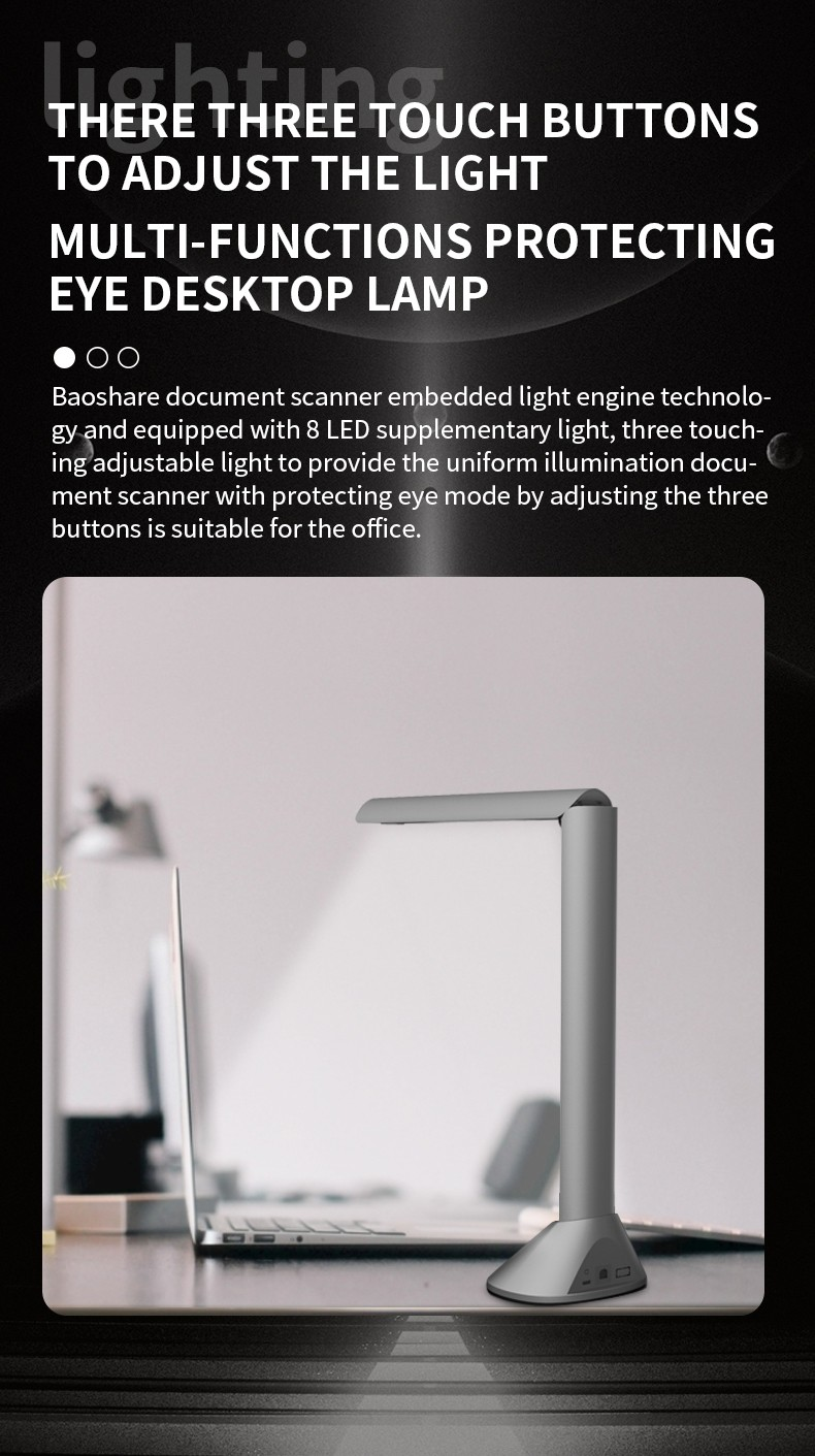 Portable Document Camera, A3 Automatic Book Scanner