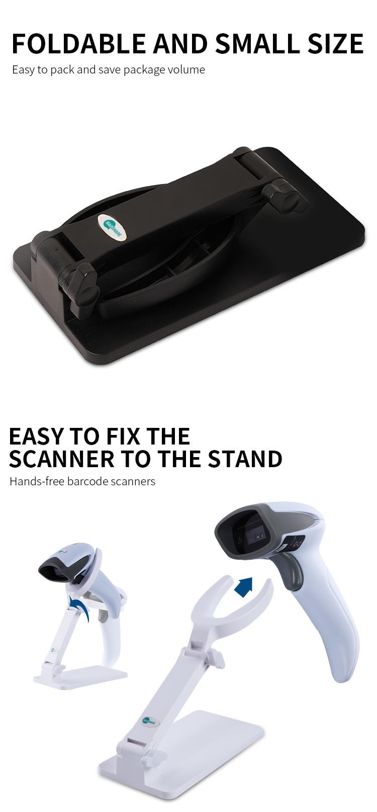 Barcode reader stand holder cradle for barcode scanner