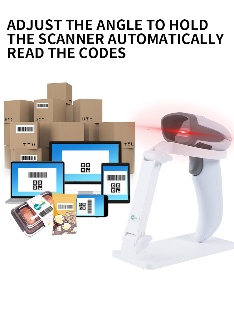 OEM factory price barcode scanner stand base holder cradle for different handheld barcode reader