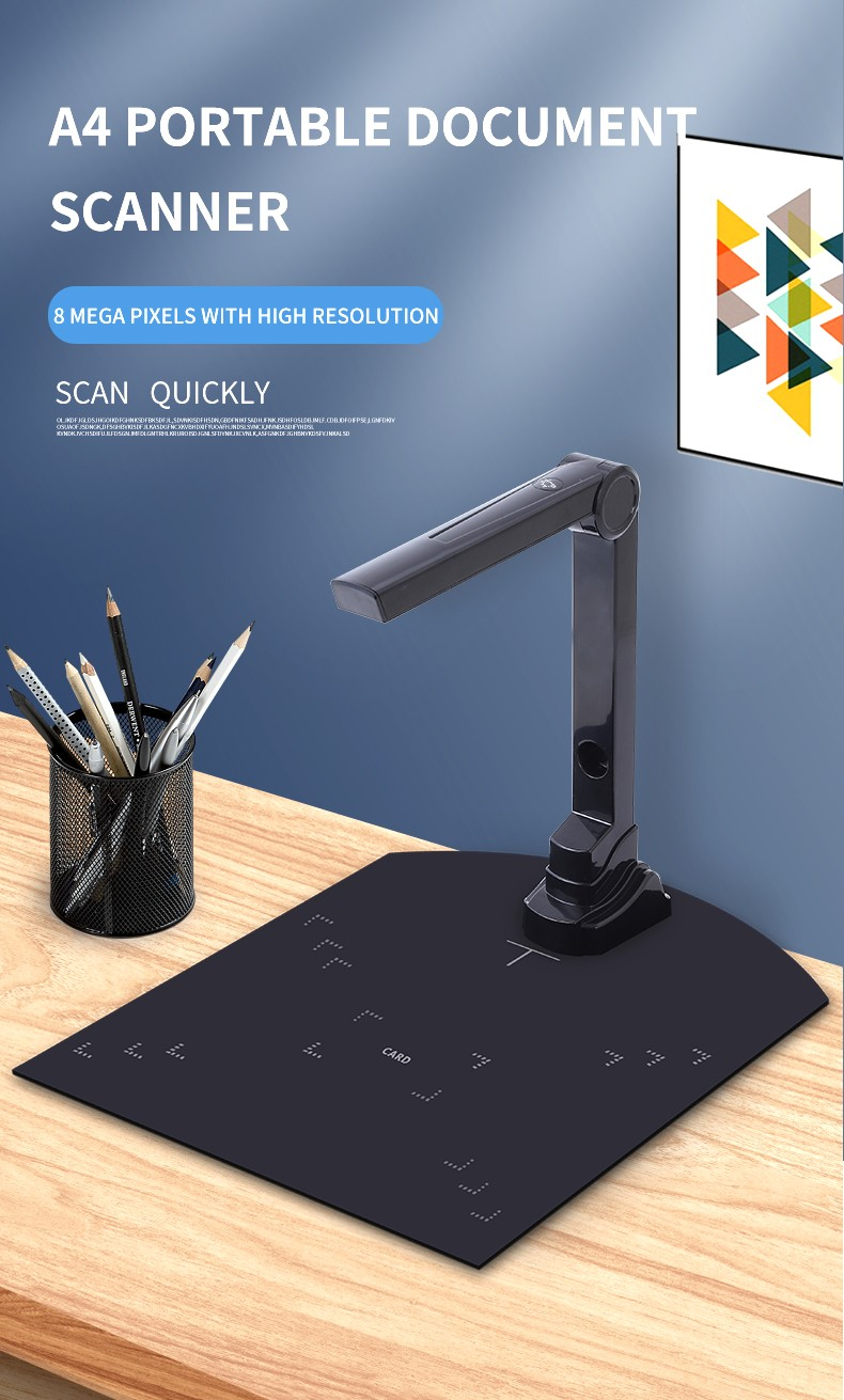 High Speed Plastic Book Scanner Cheap Price 5.0Mp Portable A4 A5 Text Book Scanner