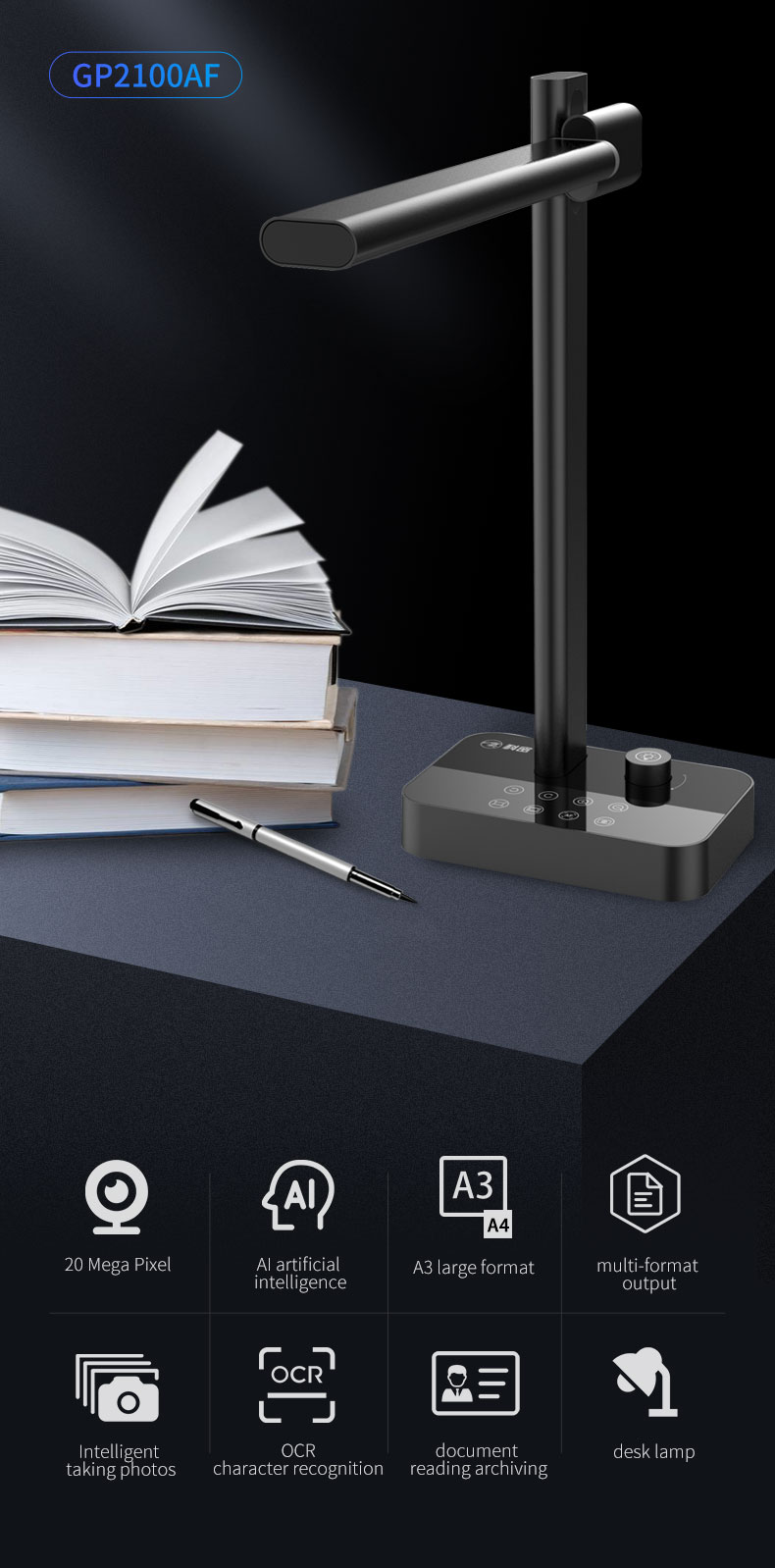 Amazon Best Portable Document Camera Scanner For Home Use