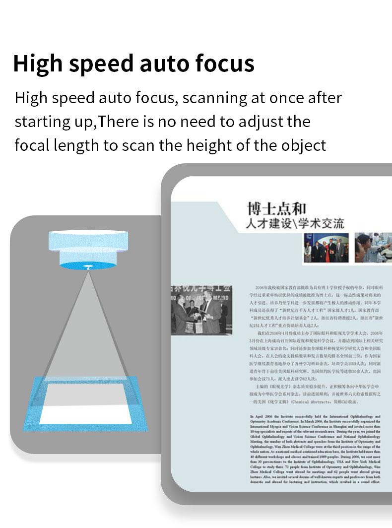 BaoShare GP1800AF 18MP A3 Portable OCR Document Scanner Automatic Flatten Book Scanner