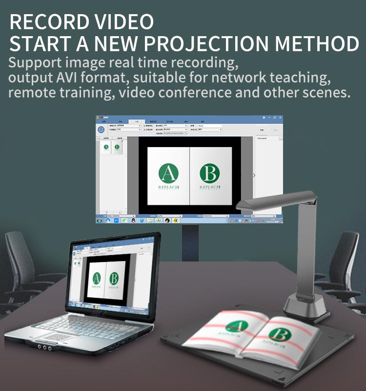 New Design Automatic Book Portable Document A4 Scanner Usb 15 Megapixels Document Camera For Bulk Files Scanning