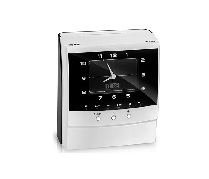 Comet AT-50 electronic time recorder clock fingerprint attendance machine