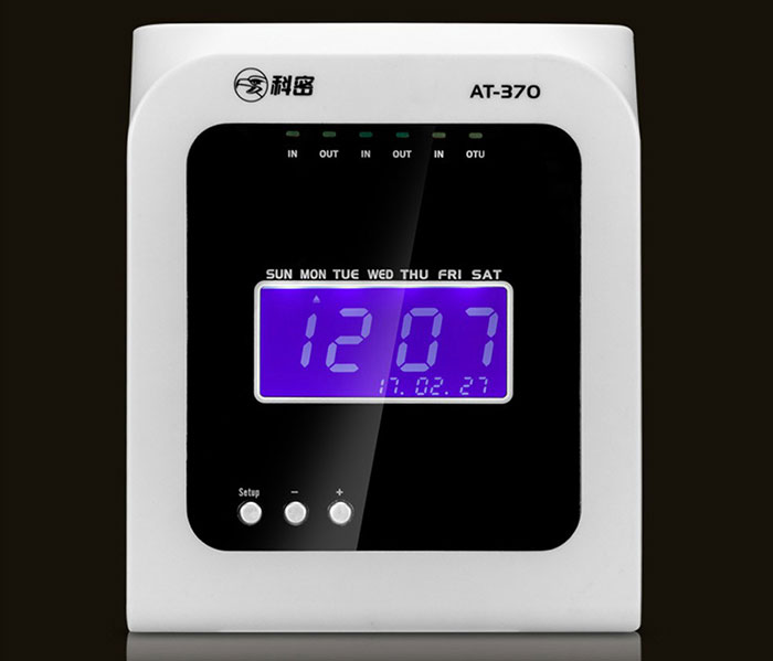 Cheap electronic punching card time clock attendance devices machine