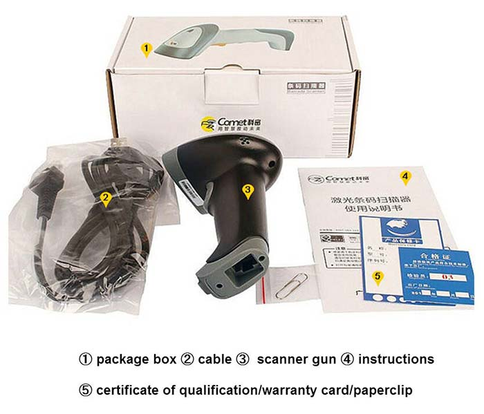 China factory Comet EP-8800 QR barcode scanner pdf417 /QR code scanner barcode scanner for retail,storetaking supermarket