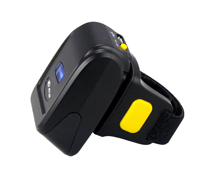 Mini finger bluetooth barcode scanner wearable ring barcode scanner with long range scan distance