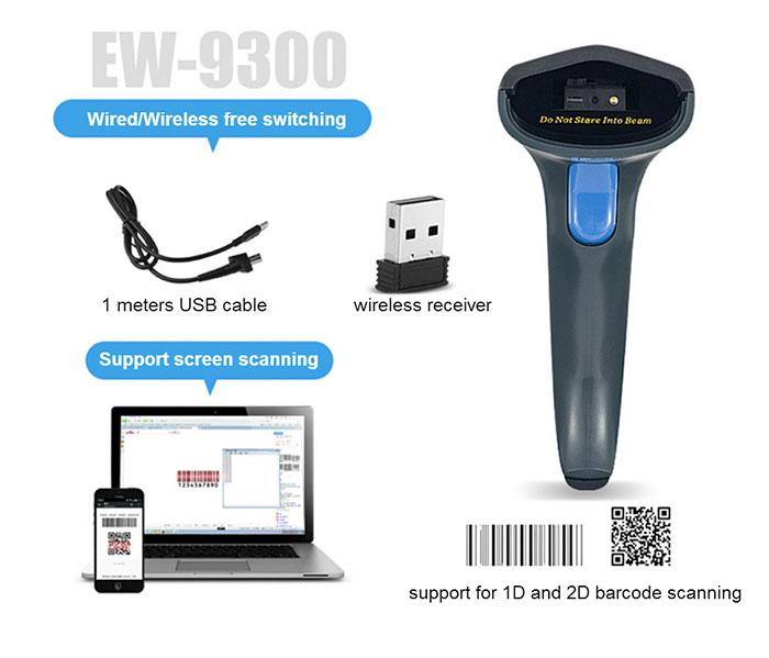 China manufacturer Comet scanner portable handheld wireless barcode reader 2d scanner