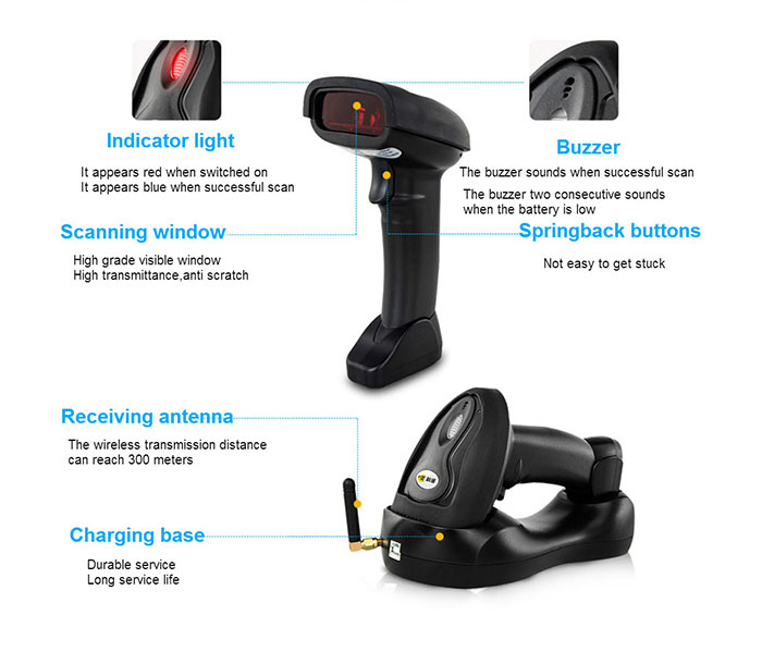 Hot selling for logisitcs retail supermarket apparel customspost office film etc 1D barcode scanner