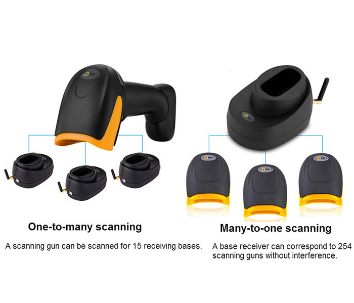 Comet WX-70 wireless laser barcode scanner bluetooth 2D scanner