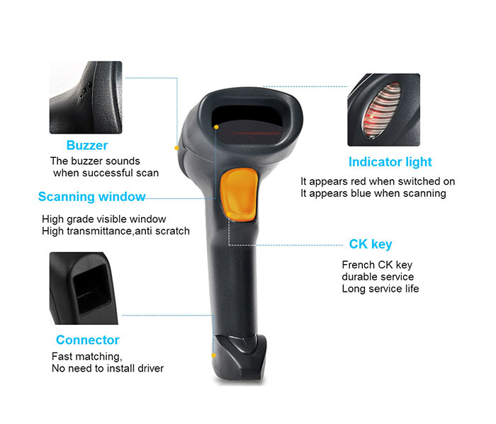 Cheap pos qr code scanner USB supermarket android barcode scanner