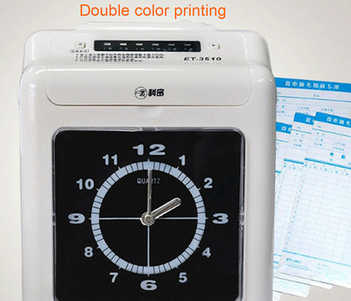 Top selling time attendance electronic time recorder machine