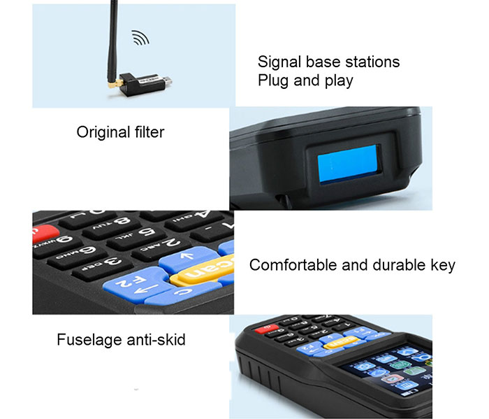 Mobile Handheld Pda Machine Pos Terminal With Barcode Scanner Pda and Thermal Printer