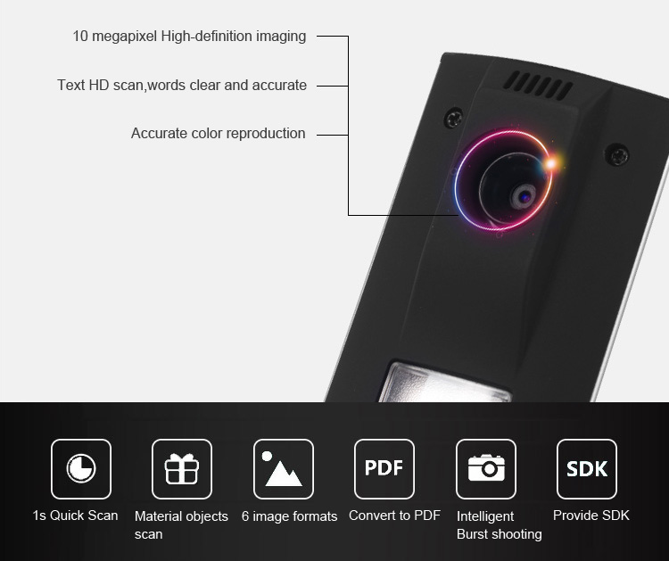 Comet GP1100AF portable visual education flatbed equipment, 10 megapixel office document camera