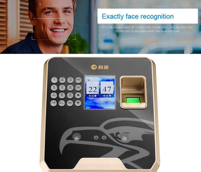2.4/'/' TFT 3D Biometric Wireless Face Recognition Fingerprint Attendance Machine
