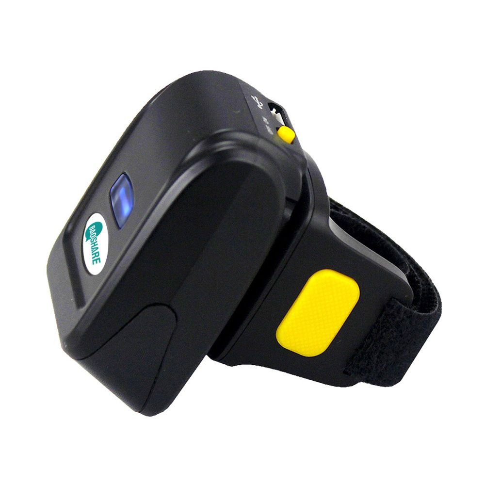 BaoShare C-200D cheap price bar code reader 1d bluetooth wireless mini finger handheld barcode scanner
