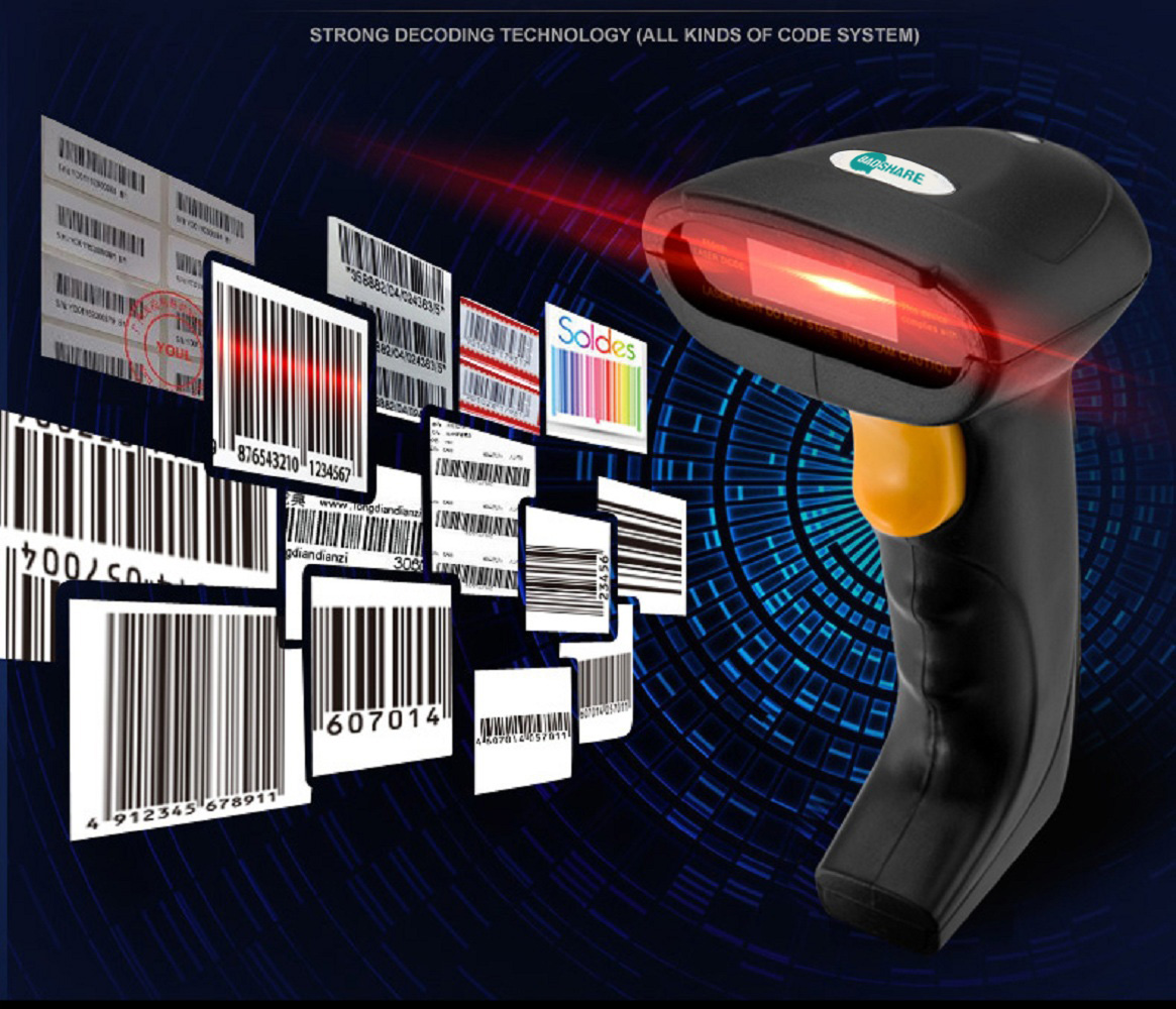 BaoShare GY-48 cheap 1d laser Barcode Scanner handheld device wired