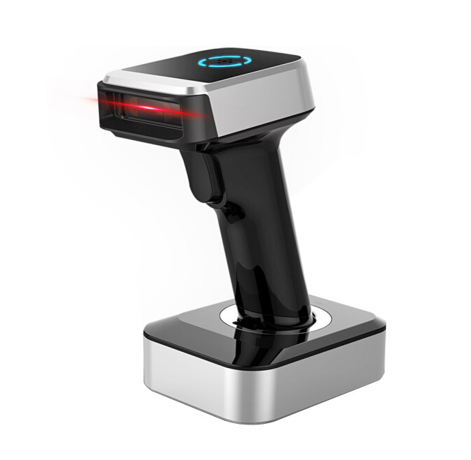 BaoShare BE68BD 2.4G QR Code Reader Module Price  2D Wireless Bluetooth Barcode Scanner With Charging Base