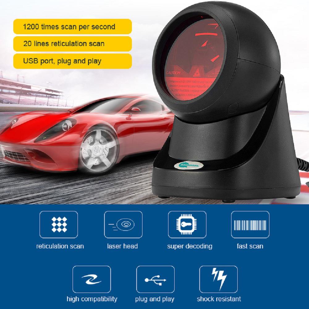 BaoShare PT-558 omnidirectional barcode reader platform 1d laser