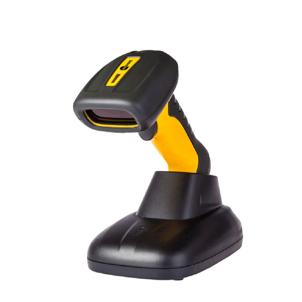 BaoShare WE12D portable industrial type1d/2d/QR barcode scanner handheld barcode reader machine with charging base