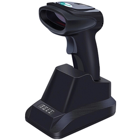 BaoShare WX-90 Handheld 1D 2.4G Barcode Reader With Charging Base Portable 1D CCD Wireless Barcode Scanner