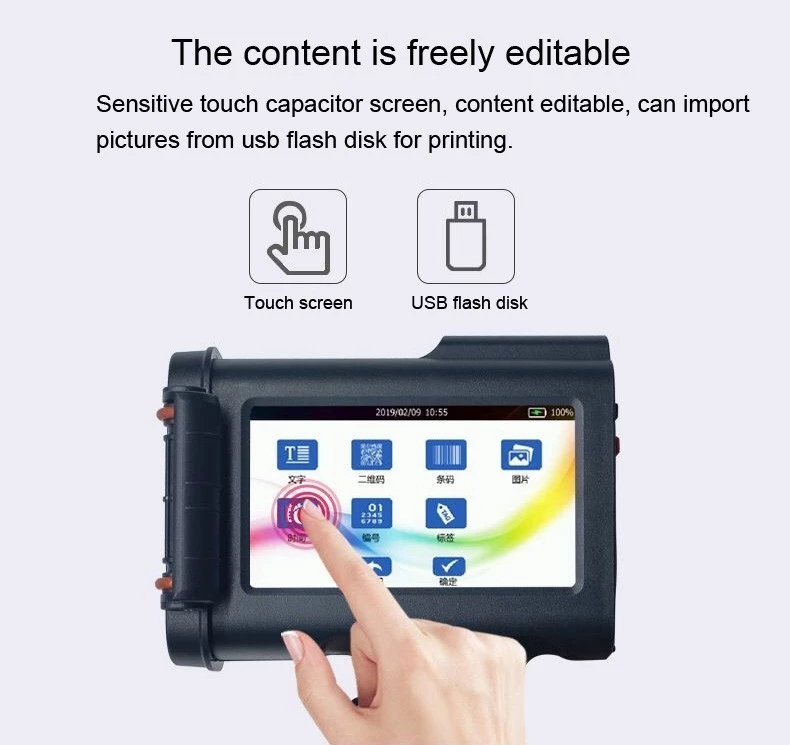 BaoShare H20 Portable Handheld screen Date Batch Code Inkjet Printer, Product Code Printing Machine