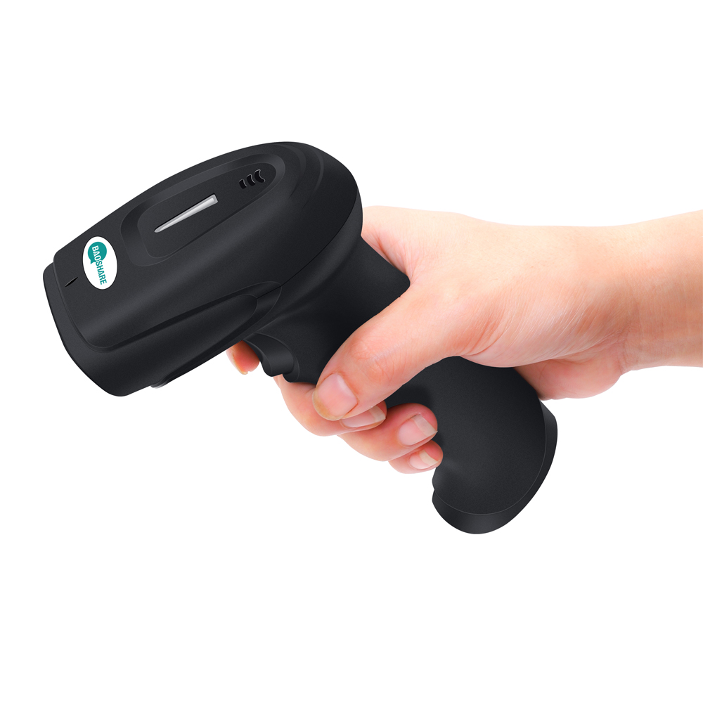 High Performance 2D Cmos Barcode Scanner Auto Sensing Wireless Qr Code Scanner Barcode Reader With Vibration