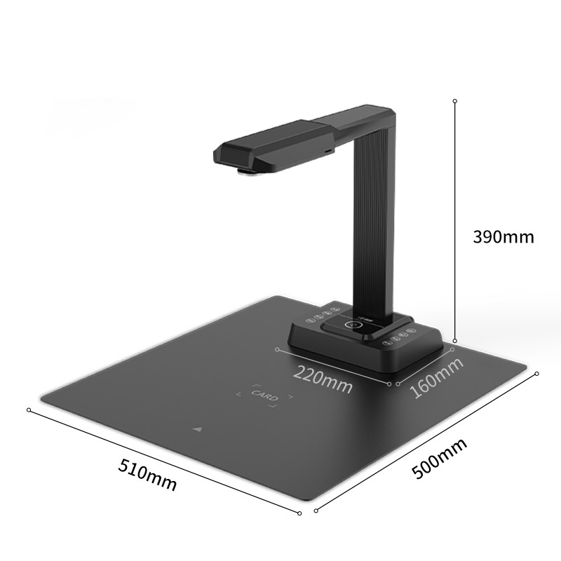 20MP OCR Document Camera Multi Languages Fletten Book Scanner A3 Portable Document Scanner