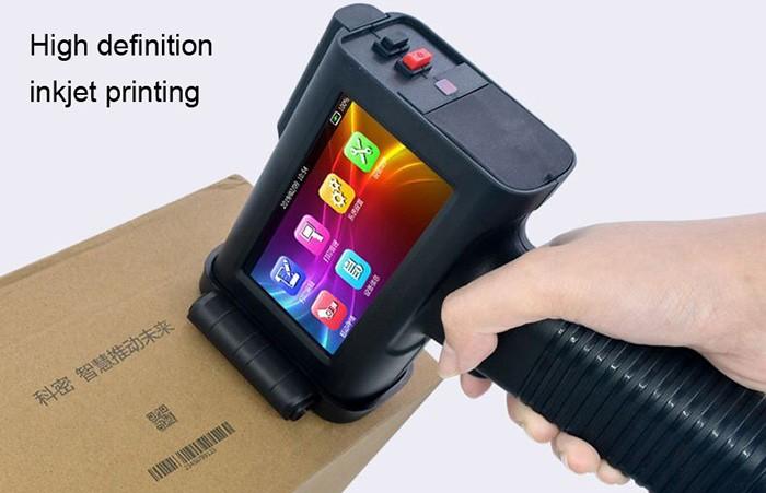 Supplier solvent ink date qr code handheld inkjet batch code printer machine on metal box wood for sale