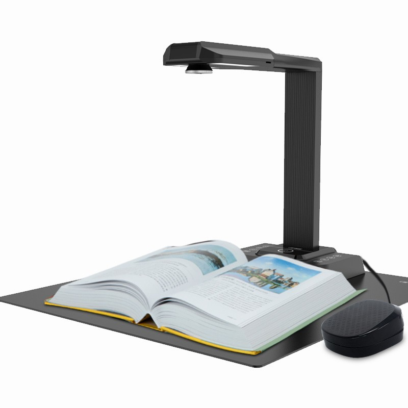 20MP OCR Document Camera Multi Languages Flatten Book Scanner A3 Portable Document Scanner