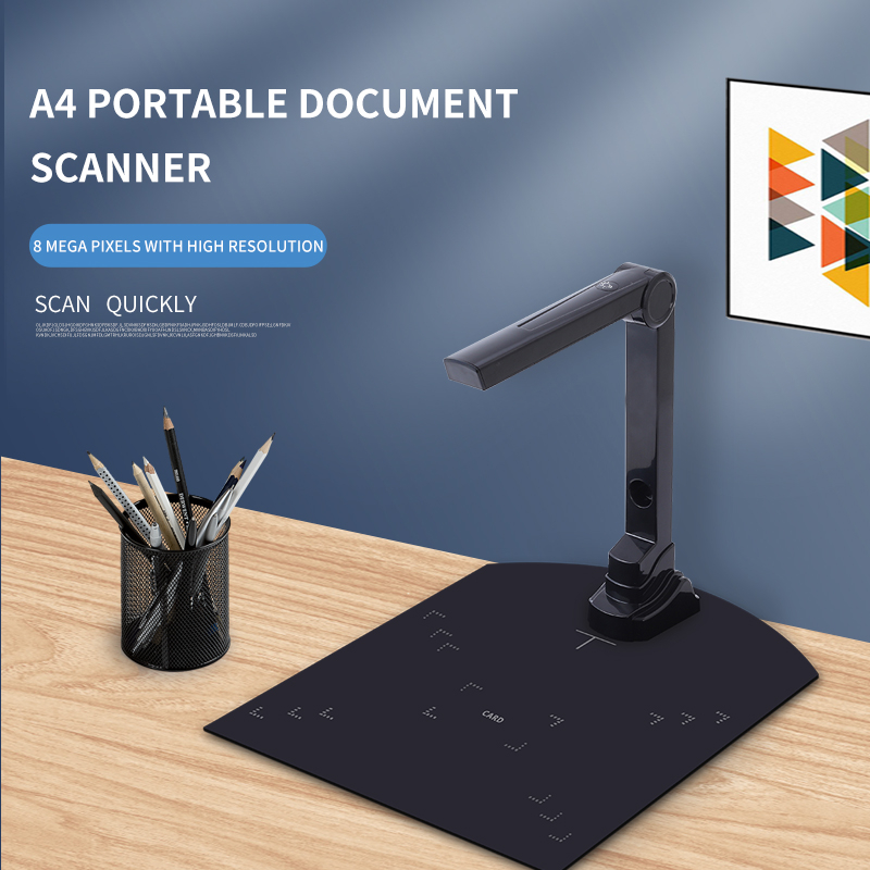 High Speed Plastic Document Camera Scanner Cheap Price 5.0Mp Portable A4 A5 Text Book Scanner