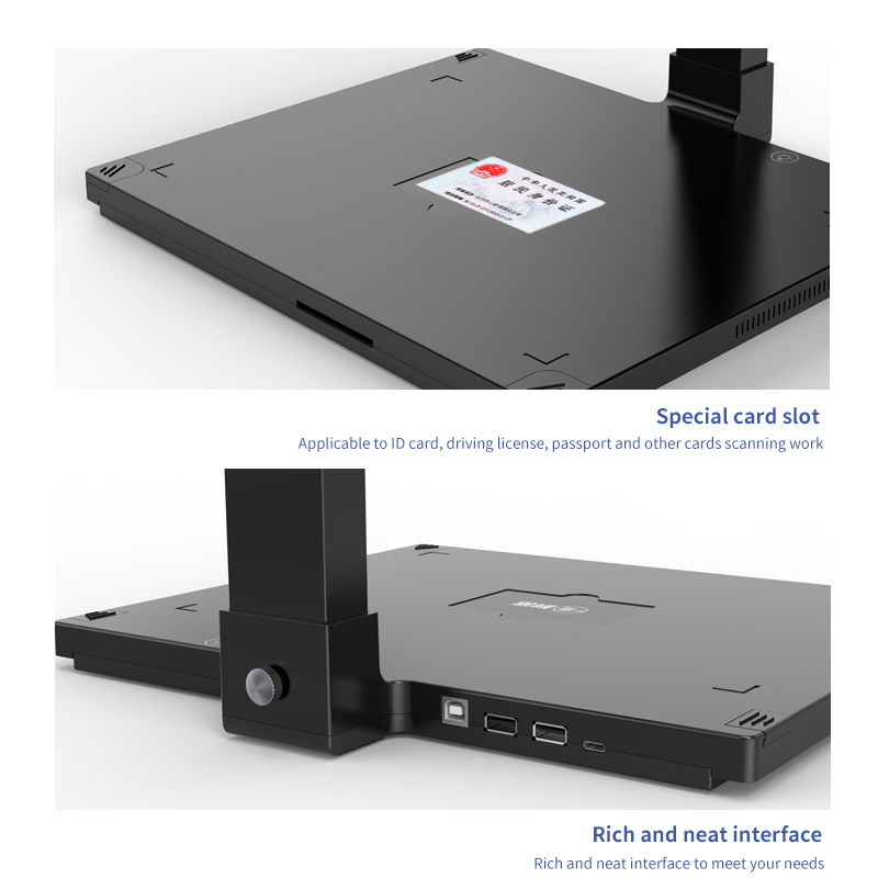 High Resolution 13mp 5mp Ocr A4 Automatic Book Scanner Document Camera Visualizer Document Scanner For Office