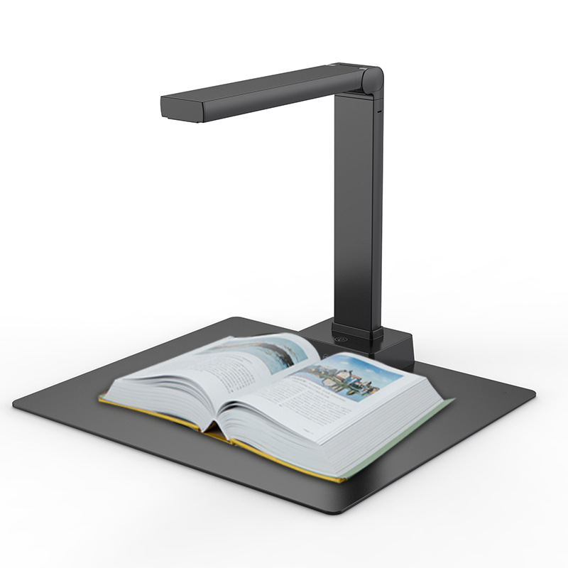 High Resolution 13 Megapixel Book Scanner Automatic A4 Document Camera Overhead OCR Document Scanner With Soft Mat