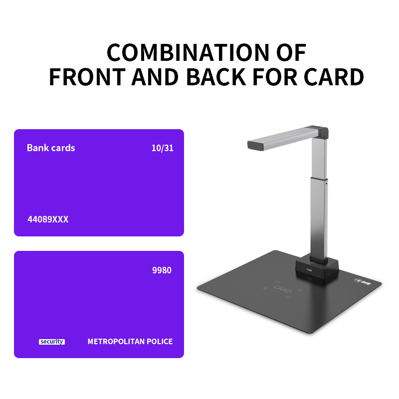 Light Weight Fast OCR 13MP Bulk Usb Portable Document Camera Scanner A3 A4 Book Scanner For Education