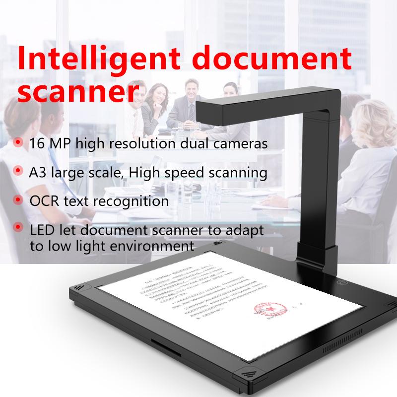 Factory Excellent Quality Desktop A3 Document Camera Scanner 16mp ABBYY OCR Book Scanner Document Management