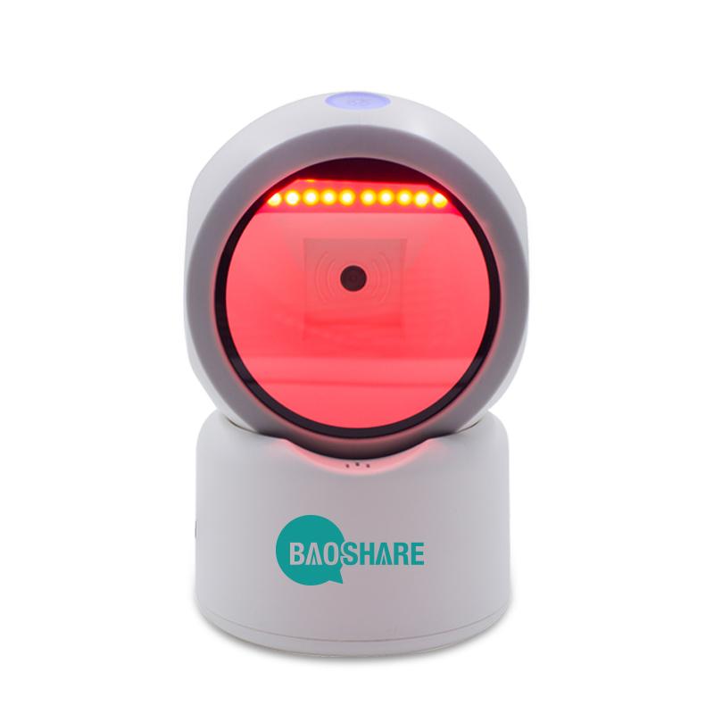 Wired Usb Barcode Reader Qr Code Scanner Hands Free 2d Omnidirectional Barcode Scanner For Supermarket