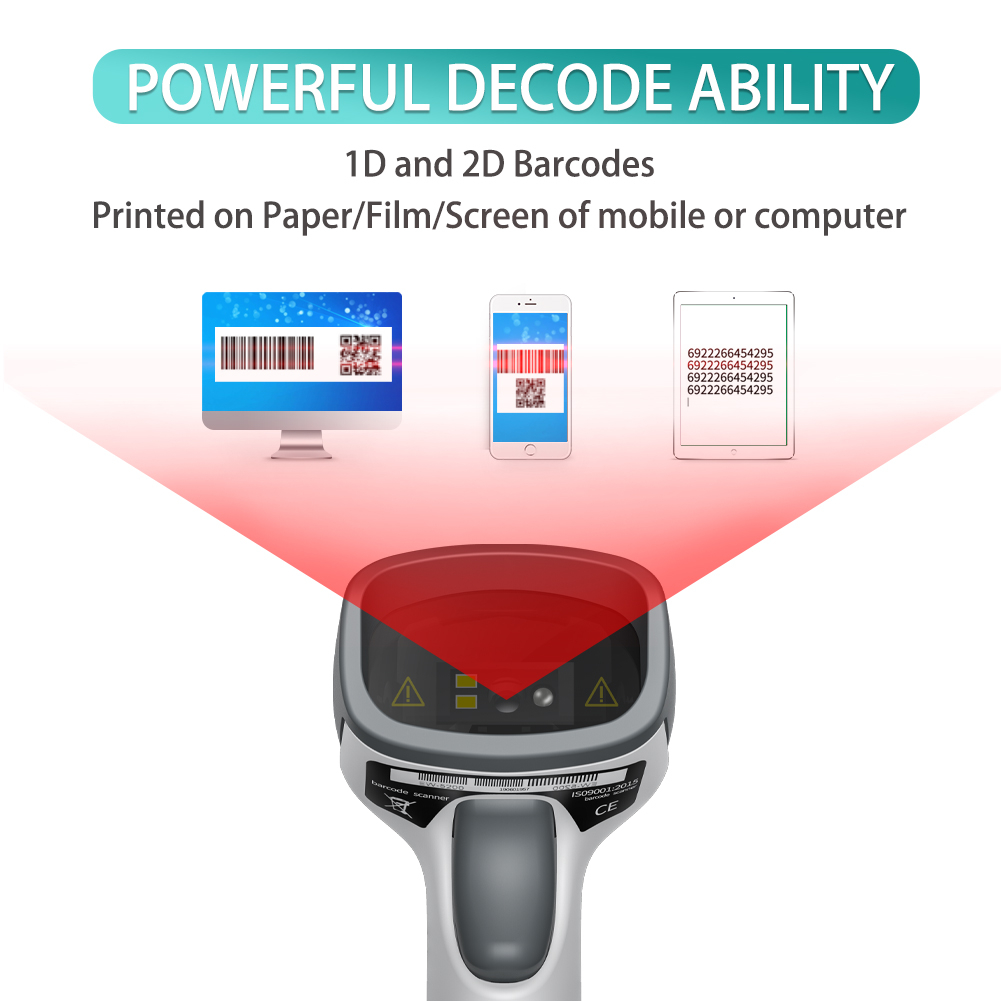 Excellent Cheap Handheld Cmos Usb Wired Barcode Scanner Pos 2d Qr Bar Code Reader For Shopping
