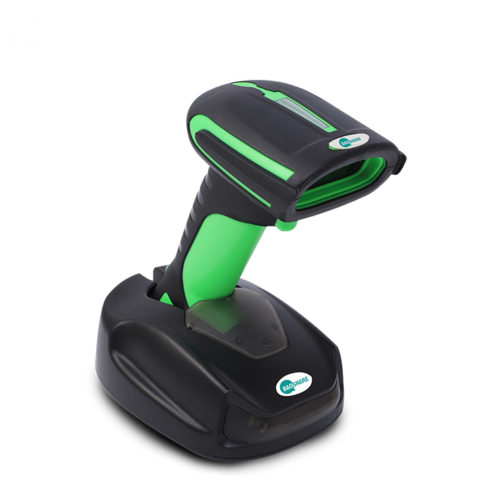 High Quality Automatic 1D Wireless Industrial Cordless Bluetooth 2.4G Barcode Scanner Reader with Charging Stand